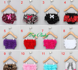 Wholesale Hot sale colors Baby Girl Ruffle Bloomer Shorts w Lace Nappy cover Panties