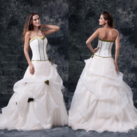 Model Pictures classic wedding dress - New Arrival Customer Made Ball Gown Hand Made Flower Classic Organza Wedding Dresses WD100