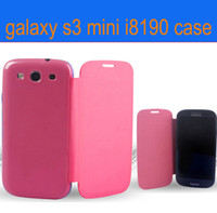 Leather For Samsung  hight quality ultrathin Flip leather case cover shell For samsung Galaxy S3 III i9300 mini i8190