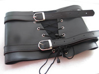 Wholesale BDSM Bondage Gear Leather Leg Thigh Binder Cuffs Bundle Restraint Belt Adult Sex Toys Products XLY379