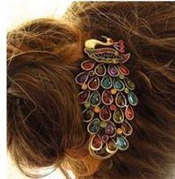 as the pic banana hair style - Gorgeous Peacock Hairpin Fashion Retro Style Hair Clips Banana clips Charm Hair accessories