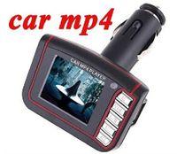 Wholesale 1 quot LCD Wireless Car MP4 MP3 Player FM Transmitter SD MMC USB Black Free DHL Fedex