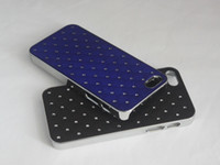 bling bling - Frosted electroplate aluminum backcase for iphone5 with bling bling rhinestone