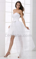 Sexy Homecoming Dresses 2013 White Strapless Applique Beaded...