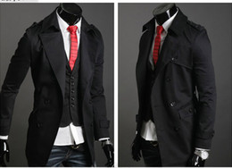 Wholesale 50 OFF men s trench coat brand men s clothing fashion cultivate one s morality dust coat