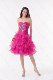 Wholesale hot style sweetheart short mini A line organza homecoming dress cocktail prom PD