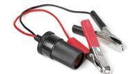 Wholesale 10pcs car battery clip to cigarette lighter charger cable