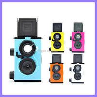 Wholesale LOMO mm Twin lens Assembly DIY Dual lens Reflex TLR camera christmas gift film cameras