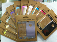 Wholesale 20pcs Front Back decorated Aluminum skin For iphone G electronics99