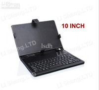 Wholesale 10 quot INCH LEATHER CASE COVER STAND KEYBOARD FOR APad EPAD PDA ANDROID TABLET PC