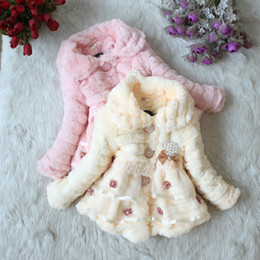 Wholesale children autumn fall girls cute Pearl pendant sweater coat dandys