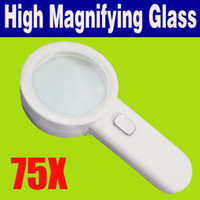 Wholesale 30pcs GLA10 New cm Lens LED x High Power Magnifying Glass LED Loupe Magnifier O
