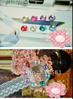 apple stickers come iphone - New coming crystal Diamond home sticker button for iPhone G