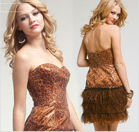 Wholesale 2013 new style prompartydress short prom dres with metallic bodice and feathers trim evening dresses