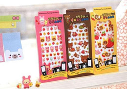 Wholesale New cute San x Rilakkuma pvc decoration sticker