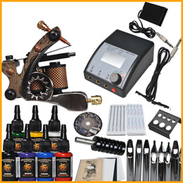 Wholesale Complete Tattoo kit machine gun color inks power supply needles set