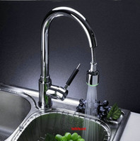 Wholesale Pro LED Kitchen Basin Sink Spray Pull Out Vessel Brass Tap Chrome Faucet chrome single hole AK13