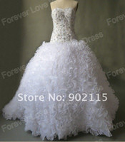 Wholesale 2012 new style Royal Style Beadings Sweetheart Custom Made Victorian Ball Gown Wedding Dresses