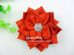 Winter Flowers with Sparking Button Cotton Fabric Flowers trial order for Headband Photography Props 30PCS LOT BY QueenBaby