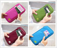 Wholesale EMS Free New Passport Holder Travel Bag Pouch ID Holder Purse Wallet Case Card Zippered HANDY V3364