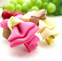 Wholesale Solid Double Layer Bow Tie Design Girl s Hair Clips For Christmas Day Kids Ribbon Hair Accessories