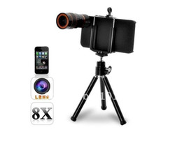 Hot Selling wholesale and dropshipping 8X Zoom Optical Telescope Lens with Tri For iPhone 4 iphone 5