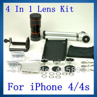 ba kit - 4 In Lens Kit for iPhone s X Telephoto Fish Eye Wide Angle Micro Lens Mini Tri and Ba