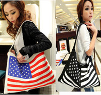 Wholesale Olympic Games United States Flag Design Star Stripe Style Shoulder Shopping Bag