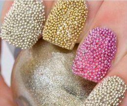 Wholesale HOT Colors nail diy Caviar nail polish caviar nail Art Acrylic Steel Ball Manicure