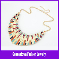 Wholesale Good Quality Alloy Enamel Fashion Punk Metal Collar Women s Necklace