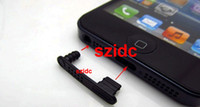 Wholesale New Arrive For iPhone Anti Dust Plug Stopper Cover Kit Black Connecting Type