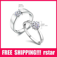 Wholesale 925 sterling silver couple rings Oath Ring wedding diamond ring YS1