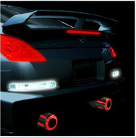 Wholesale Spitfire exhaust pipe stainless steel the LED luminous tail pipes muffler decorative lights LEDTP
