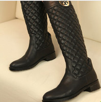 Wholesale new arrival Europe cool fashion super noble trend plaid pattern Martin boots EU35