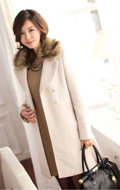 2013 new Korean women's cashmere coat