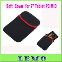 Wholesale Soft Protect Cloth Bag Pouch Cover Case for quot Tablet PC MID Notebook Black Color Drop