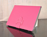 Wholesale 10pcs Luxury Book Style Litchi Leather Case Cover With stand holder For ipad nd rd