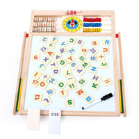 Wholesale Large wooden child easel oppssed blackboard double faced magnetic drawing board writing board educational toys