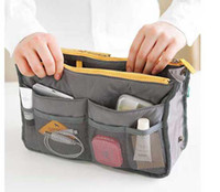 Wholesale Women Travel Insert Handbag Cosmetic bags Organiser Purse Large liner Organizer Tidy Bag Pouch Storage colors