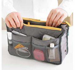 Wholesale Women Travel Insert Handbag Cosmetic bags Organiser Purse Large liner Organizer Tidy Bag Pouch Storage colors