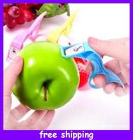 potato peeler - Apple peeler Stainless Steel portable blade Kitchen Apple Pear Potato Fruit remover Peeler cm