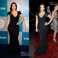 Wholesale Good Design New Fashion Kim Kardashian Sexiest Black Lace Celebrity Dress CBD059