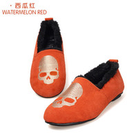 Wholesale Dermal leisure shoes skeleton pattern flat shoes and wool free transportation