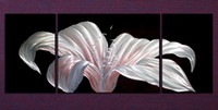 Wholesale Metal Wall Art Abstract Modern Sculpture Painting Handmade panle in one set CHB401001