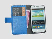 Leather For Samsung  New wallet Credit Card stand PU Leather case for Samsung Galaxy S3 S III mini I8190 5pcs 3pcs 2pcs