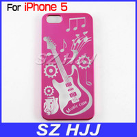 Wholesale Slim Case Cover for iPhone5 S Electroplate Guitar Design Hard Back Plastic Protective Shell