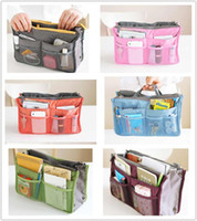 Wholesale EMS Free Women Travel Insert Handbag Organiser Purse Large liner Organizer Tidy Bag Pouch Storage