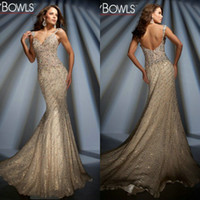 Wholesale Beautiful Tony Bowls Crystals Beads Spaghetti Strap Luxuriant Prom Dress TB102