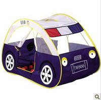 Wholesale Child Kids play tent ultralarge police car toy tent indoor outdoor beach play house