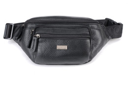 Wholesale Men leather purses soft cow leather casual waist bags outdoor sport travel best companined bags factory prices
